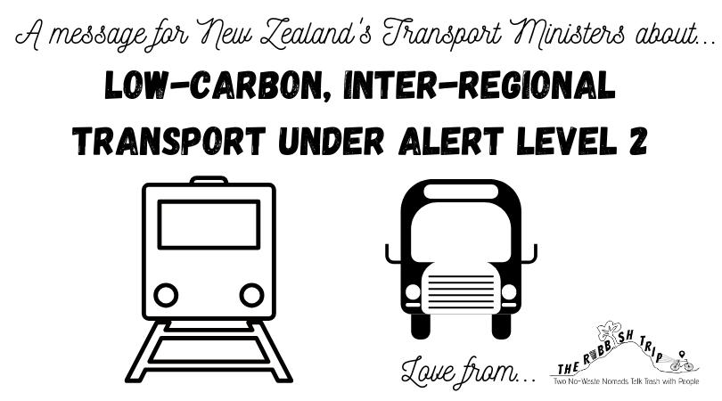 Letter to NZ Transport Ministers Re Low-Carbon Inter-Regional Transport Options under Alert Level 2