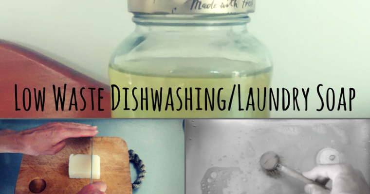 Low Waste Dishwashing and Laundry Soap