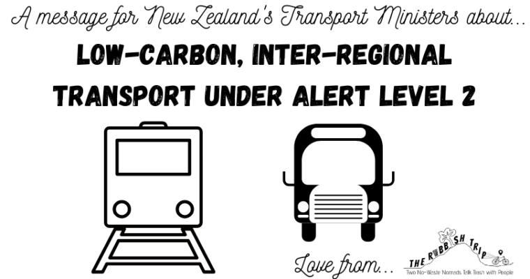 Letter to NZ Transport Ministers Re Low-Carbon Inter-Regional Transport Options under Alert Level 2